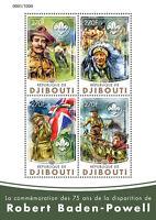 Djibouti 2016 MNH Robert Baden-Powell 75th Mem Ann 4v M/S Scouting Scouts Stamps