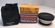 Digital Optics Professional Lens .45x Wide Angle 52mm High Resolution Titanium