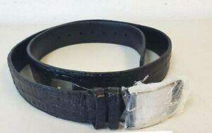 Los Altos Boots Western Wear Crocodile Black Leather Cowboy Belt Size 34