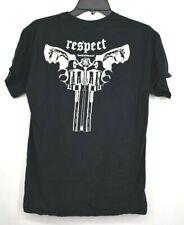 Smith & Wesson Mens Respect Double Gun Back Graphic Short Sleeve Shirt Sz M