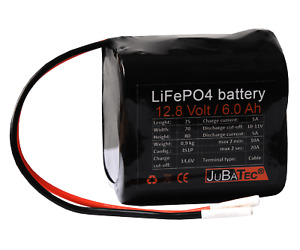 LiFePO4 Akku 12V 6Ah mit BMS (Batterie Management System)