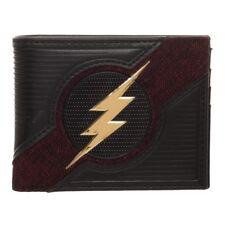 Bioworld Justice League DC The Flash Chrome Weld Patch Bi-fold Wallet MW65Z7FLA