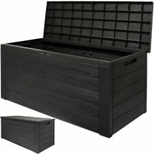 Garden Storage Box Cushion Plastic Utility Lid Outdoor Patio Shed Chest