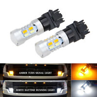 2x High Power 3157 Dual-Color Switchback 20-SMD-5730 LED Bulbs Turn Signal Light