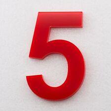 Hausnummer Hochglanz Acryl Rot 3H01 - Türnummer - Post Nummer - Plexiglas