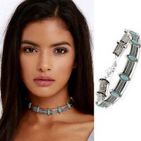 Retro Chic Boho Ethnic Style Collar Choker Necklace Statement Bohemian Turquoise