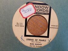 WINDOW 45 RECORD/RON HARVEY/ABA DA ABA DU/STRING OF PEARLS/ EX VINYL POLKA