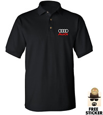 Audi Polo T-shirt Quattro tt r8 s3 a3 Sport Racing Dad Fathers Car Gift MENS Top