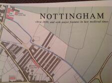 NOTTINGHAM-GRANDI CARTE, piani e narrazione 1800 e prima del