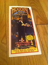 Harry Houdini Tour & Magic Show Scranton Pennsylvania Brochure Magician Collect
