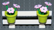 ☀️NEW LEGO City White Fence w/ Flowers Belville House Garden Girl Minifigure #8
