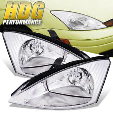 Clear Len Reflector Chrome Housing Headlight Lamp For 00-04 Ford Focus ZX4 SE LX