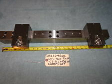 """Wire Edm Rail 23.5"""" Long With Two Ics 252.00/253.00 Clamps Set"""