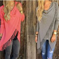 1 Pcs Women's Capes And Ponchos Autumn Winter Fashion Candy Colors Tassel Pullov