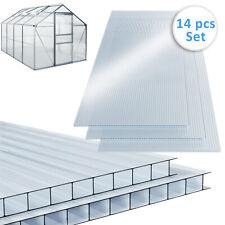Deuba 101737 Polycarbonate Hollow Chamber Web Plates - 14 Pieces