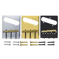 Gotoh BS-TC2 Tele Electric Guitar Bridge 3 Brass In-Tune Saddles with Screws