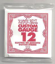 Ernie Ball Corde À L'unité electrique ou Acoustique Custom Gauge - 1012/12