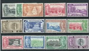 Montserrat 1951 set SG123/35 MM (top 2 values are MNH)