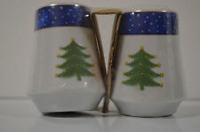 Holiday Christmas Tree Snowman Salt Pepper Shakers