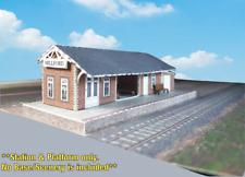 Z Scale Building - Passenger Station (Cover Stock PRE-CUT Paper Kit) ST2Z