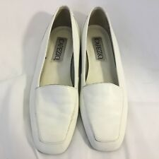 Capezio Jenny White Leather Loafers Shoes Women's (7N )