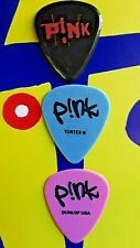 PINK 3-guitar pick set from 2002 and 2004 tours - 3 FOR THE PRICE OF ONE SALE!!