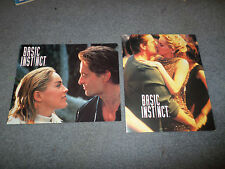 2 BASIC INSTINCT 8X10 LOBBY CARDS SHARON STONE MICHAEL DOUGLAS