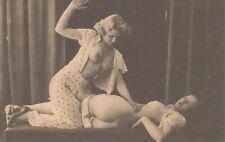 Female Nude Risqué Lesbian Spanking 05.08