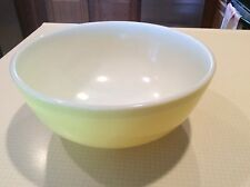 """ANTIQUE PYREX NESTING MIXING BOWL, PRIMARY YELLOW, LARGE 10-1/4"""", T.M. REG."""