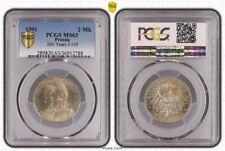 Preußen 2 Mark 1901 200 Jahre Königreich fast stempelglanz PCGS MS63 (1)
