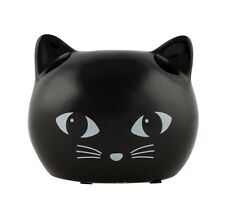 Ceramic Black Cat Treat Money Box Piggy Bank Coin Collecting Jar Savings Kids