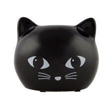 Ceramic Black Cat Treat Money Box Piggy Bank Coin Collecting Jar Savings Kids