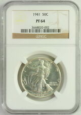1941 NGC PF 64 Walking Liberty Half Dollar Fifty Cent Graded Coin
