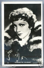 CARTE PHOTO Paramount . Claudette Colbert .