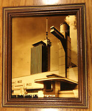 1933-1934 CHICAGO WORLD'S FAIR HALL OF SCIENCE ORATONE GOLD-TONE PHOTOGRAPH