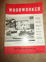 Woodworker December 1961 ~ Retro Vintage Illustrated Magazine + Advertising