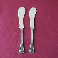 2 couteau à tartiner le beurre  métal argenté PAT APLD for rogers :  art déco