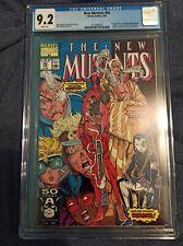 NEW MUTANTS #98 CGC 9.2 - KEY ISSUE - 1st Appearance of Deadpool