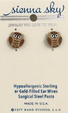 NEW Owl Post Stud Earrings Sienna Sky Made in USA
