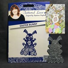 Tattered Lace metal dies - EASTER BUNNY cutting die D1228 Animals,rabbit,eggs