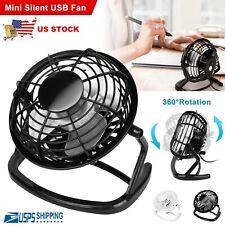 Personal Desk Table Cooling Fan USB Small Air Circulator Quiet Dorm Portable