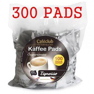 300 Kaffeepads Caféclub Megabeutel Espresso EINZELN AROMA -VERPACKT! Cafeclub