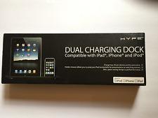 Hype iPad iPhone iPod Dual Charging Dock 2 Amp 30 Pin Connector NIB