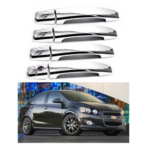 For 2011 2012 2013 2014 2015 2016 Chevrolet Sonic Chrome Door Handle Covers 4PCS