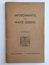 1954 Microwaves & Wave Guides NAVSHIPS 903-5 Bureau of Ships Navy Department