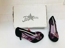 Joe Browns Purple Floral Bow Front High Heel Shoes BNIB ~ Size 4
