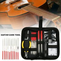 14Pcs Guitar Repair Maintenance Tools Care Kit Full Set Pliers Guitar Tool Kit A