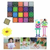 Children's Finger Painting Ink Pad Mud DIY Square Color 20 Color Stamp Seal Set