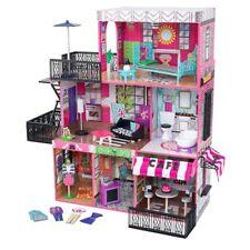 KidKraft Brookyn's Loft Wooden Pretend Play House Doll Dollhouse w/ Furniture