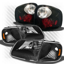 For 97-00 F150 Flareside 01-03 Supercrew Blk Headlight+Altezza Style Tail Light